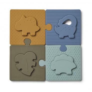 Puzzle en silicone Bodil - Dino / Blue