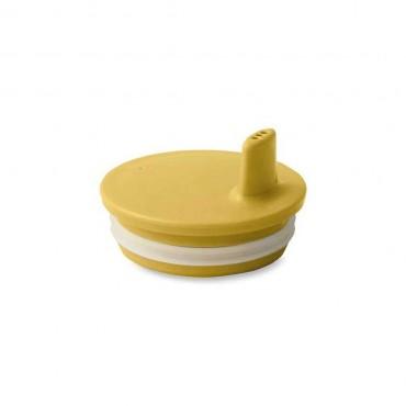 Bec adaptable pour tasse Design letters - Moutarde