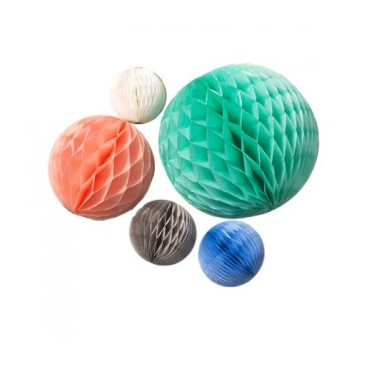 Boules Honeycomb - Pastel (set de 5)