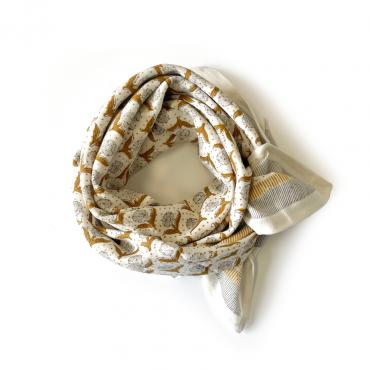 "Grand foulard Latika ""Lotus"" - Désert"