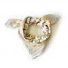 """Petit foulard Manika """"Lotus"""" - Désert"""