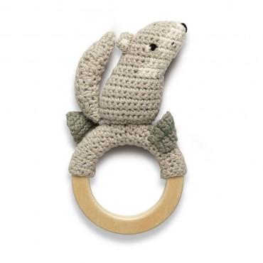 Anneau hochet en crochet - Moon the wolf