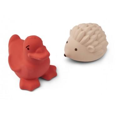 Set de 2 jouets de bain Henrick - Apple red / rose