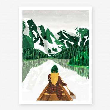 Affiche - Winter lac