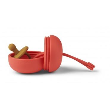Boite de rangement pour tétines Philip - Apple red
