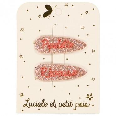 Paire de barrettes - Rêveuse & Pipelette