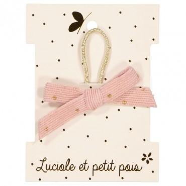 Elastique mini princesse - Ruban velours rose