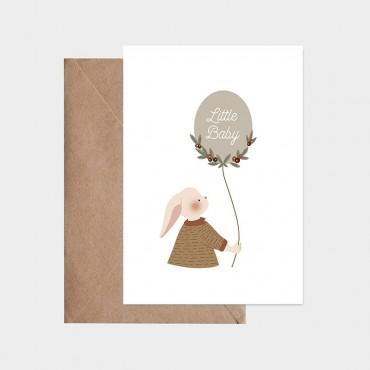 Carte postale - Ballon de naissance (garçon)