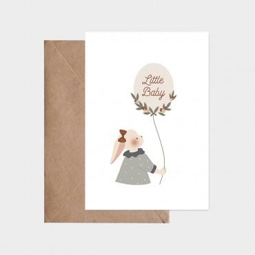 Carte postale - Ballon de naissance (fille)