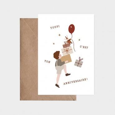 Carte postale - Montagne de cadeaux
