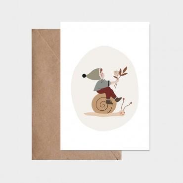 Carte postale - Léo l'escargot