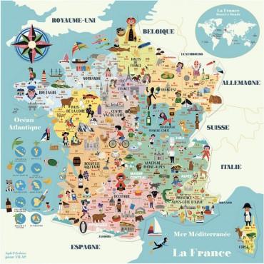Carte de France magnétique par Ingela P. Arrhénius