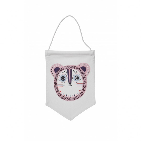 Drapeau fanion Billy Bear - Rose