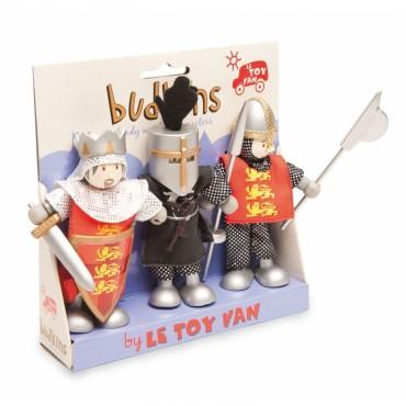 Pack de 3 figurines Budkins - Richard et ses chevaliers