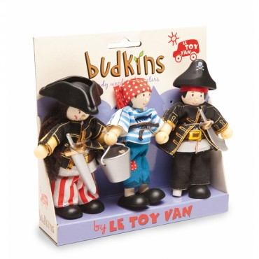 Pack de 3 figurines Budkins - Pirates