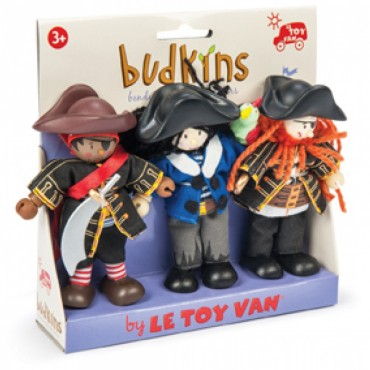 Pack de 3 figurines Budkins - Flibustiers