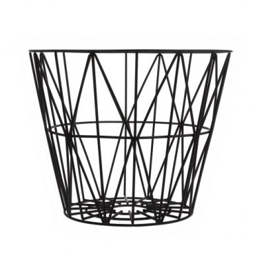 Panier de rangement Wire Basket - Noir (M)