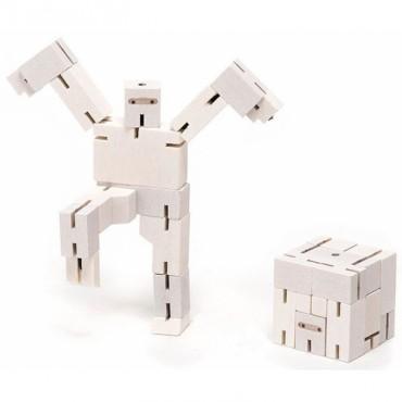 Micro Robot Cubebot par AREAWARE - Ninja Blanc