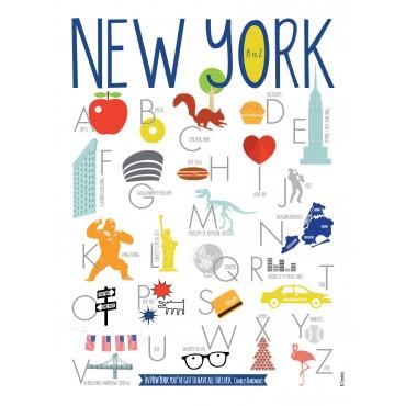Affiche ABCédaire - New York