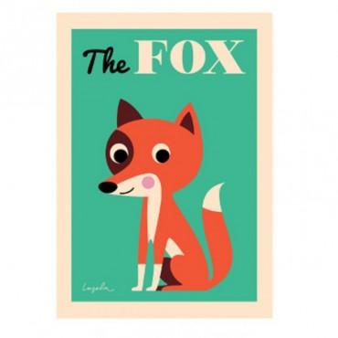Poster Fox par Ingela P. Arrhenius