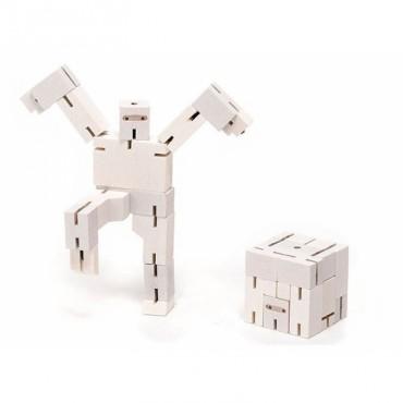Petit Robot Cubebot par AREAWARE - Blanc