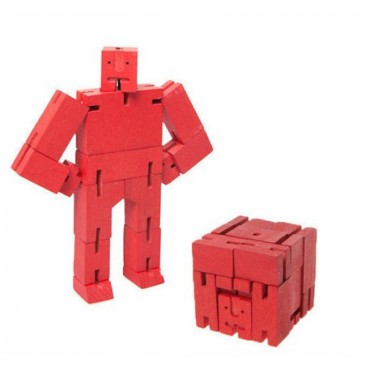 Petit Robot Cubebot par AREAWARE - Rouge