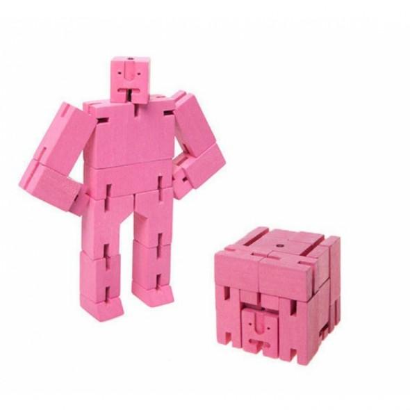 Petit Robot Cubebot par AREAWARE - Rose
