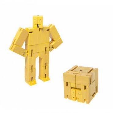 Petit Robot Cubebot par AREAWARE - Jaune