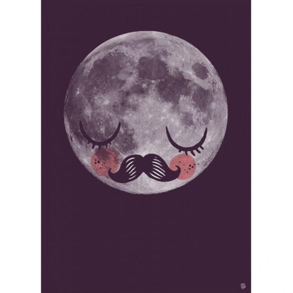 Poster Moon für Neil par Martin Krusche