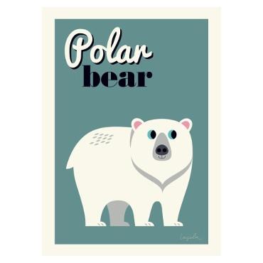 Poster Polar Bear par Ingela P. Arrhenius
