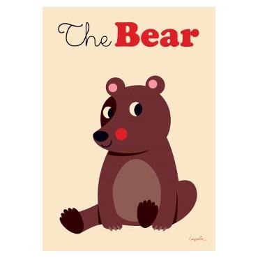 Poster Brown Bear par Ingela P. Arrhenius