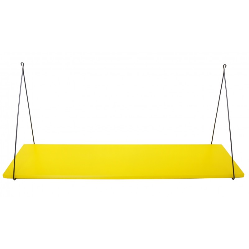 Etag re murale simple babou jaune citron rose in april perlin paon paon - Etagere murale jaune ...