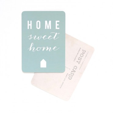 Carte Home Sweet Home - Menthe