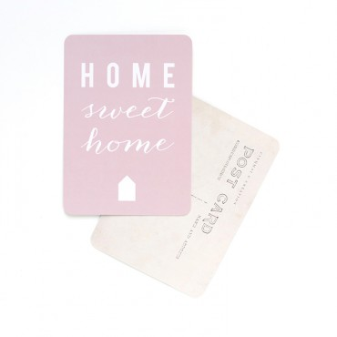 Carte Home Sweet Home - Rose poudre