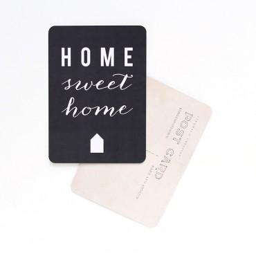 Carte Home Sweet Home - Ardoise