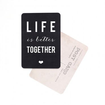 Carte Life is Better Together - Ardoise