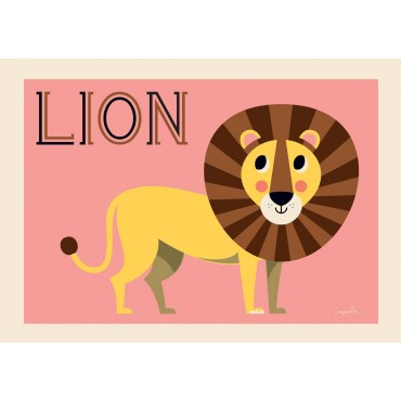 Poster Friendly Lion par Ingela P. Arrhenius