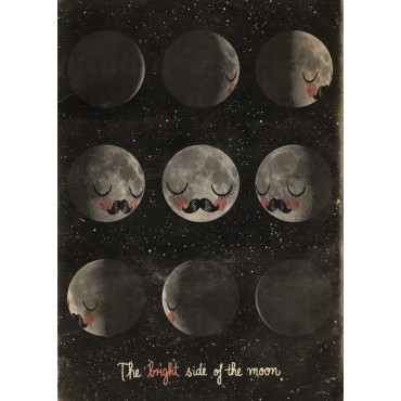 Poster The Bright Side of the Moon par Martin Krusche