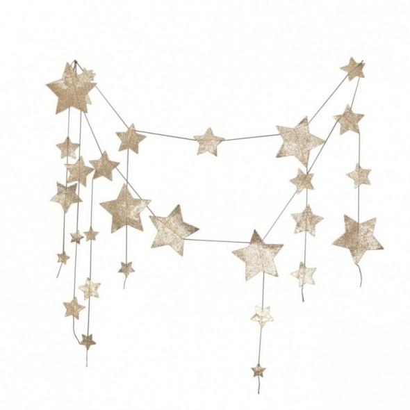 Guirlande Etoiles  - Glitter Gold