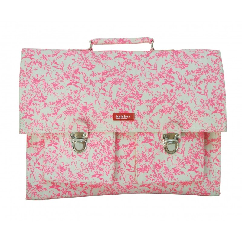 acheter populaire 30cf0 9d900 Cartable - Jouy Rose Fluo - BAKKER MADE WITH LOVE - Perlin Paon Paon