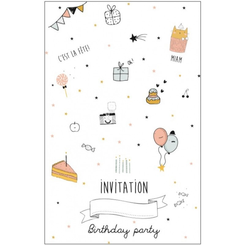 Gut bekannt Carte d'invitation Anniversaire - Fille - EMILE & IDA - Perlin  KE06