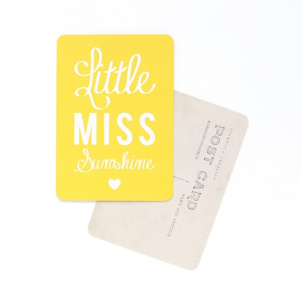 Carte Little Miss Sunshine - Citron