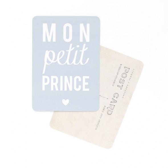 Carte Mon Petit Prince - Gris bleu