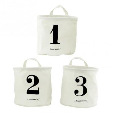 Set de 3 paniers - 123