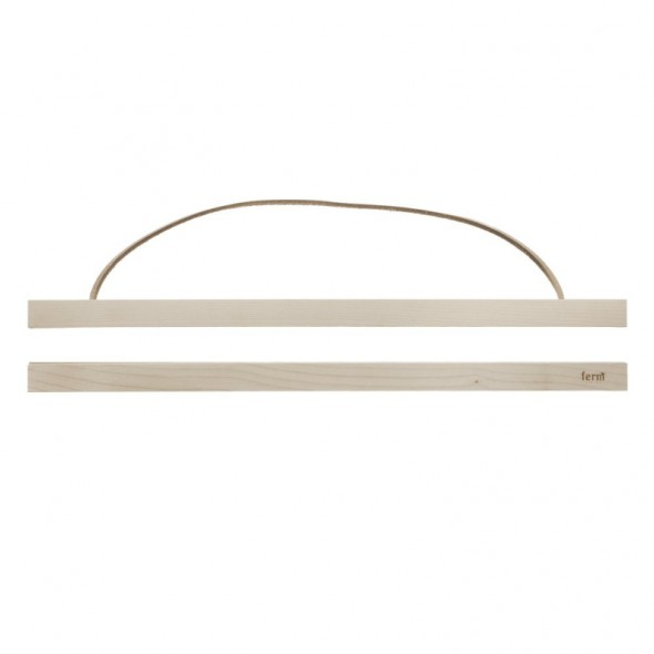 cadre affiche en bois large ferm living perlin paon paon. Black Bedroom Furniture Sets. Home Design Ideas