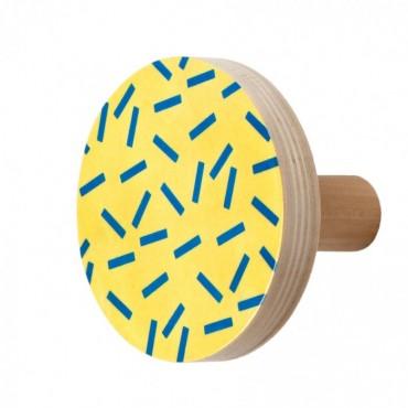 Patère en bois - Confettis