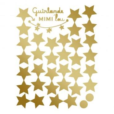 Kit guirlande DIY - Etoiles dorées