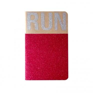 Carnet glitter A6 - RUN