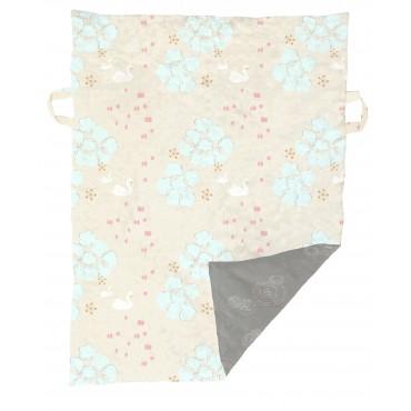 Tapis / couverture de jeu - Cygne beige / gris