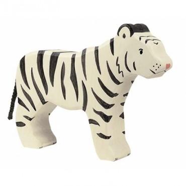 Animal en bois - Tigre blanc